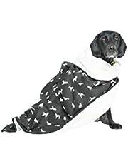 MOG & BONE Plush Blanket Black Designer Dog Print