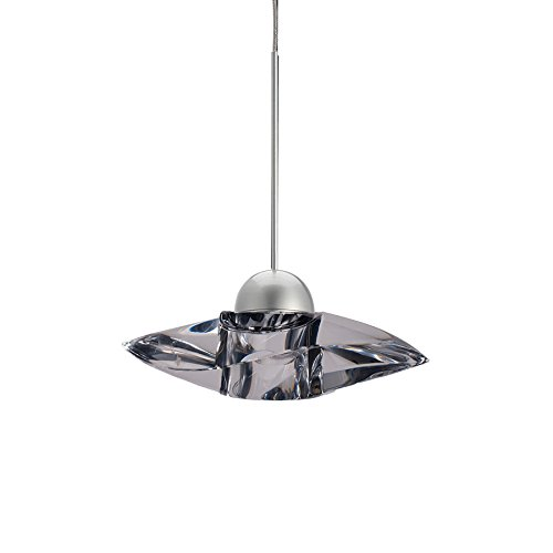 WAC Lighting MP-LED336-CL/BN Sorriso LED Pendant Fixture with Brushed Nickel Canopy, One Size, Clear (Crystals Pendant Monopoint)