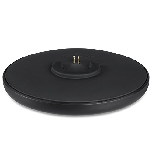 Charge Charging Cradle - Heavy Duty Wireless Charging Cradle Compatible with Bose SoundLink Revolve and Revolve+ by Wasserstein (Black)