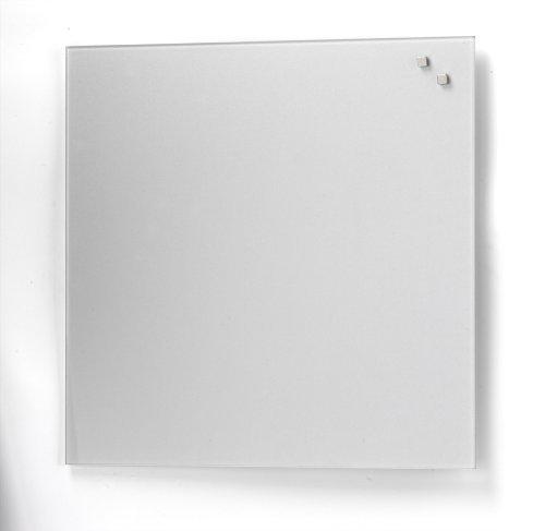 Magnetic Glass Memo Board 45 cm x 45 cm Colour: Silver