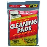 Cerama Bryte Cleaning Pads, Package of 4