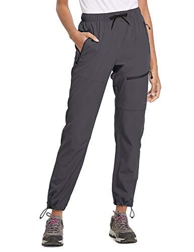 BALEAF Women's Hiking Cargo Pants Outdoor Lightweight Capris Water Resistant UPF 50 Zipper Pockets