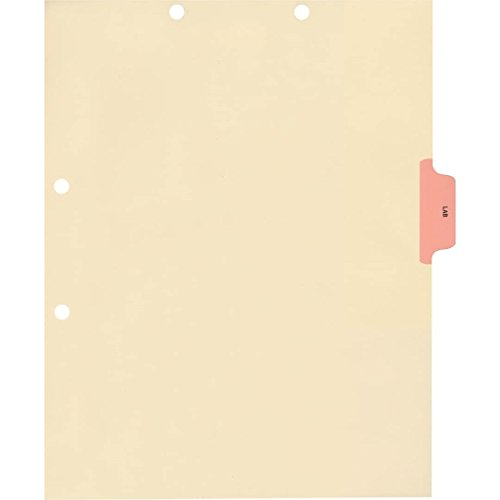 (Medical Arts Press Match Colored Side Tab Chart Dividers- Lab, Position 3 (100/Pkg) (56771))