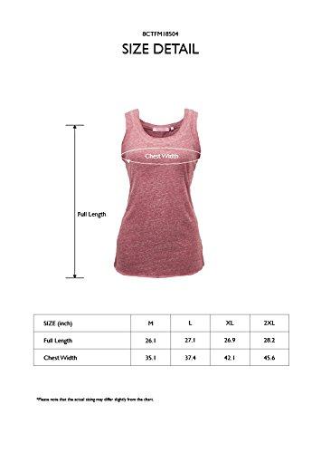 Regna X Womens Sleeveless Basic Solid Long v Neck Triblend Tank Tops Black M by Regna X (Image #6)