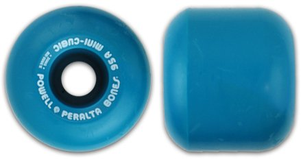 Powell Mini Cubic Blue Re-Issue - Set of 4 Wheels by Powell-Peralta   B007SPIWVY