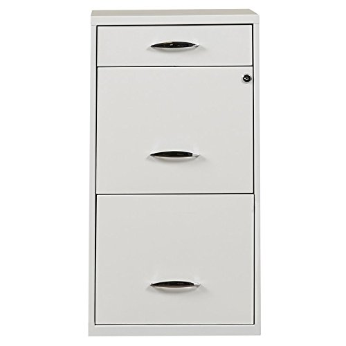 Steel 3 Drawer Filing Cabinet Lock Secures Top Two Drawers Material Metal Office Furniture by AVA Furniture