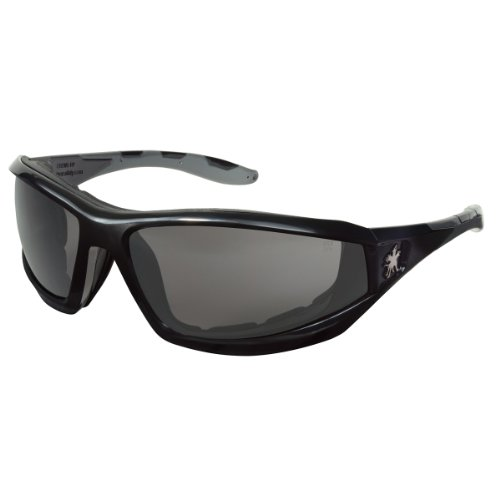Crews Gray Safety Glasses, Anti-Fog, Scratch-Resistant