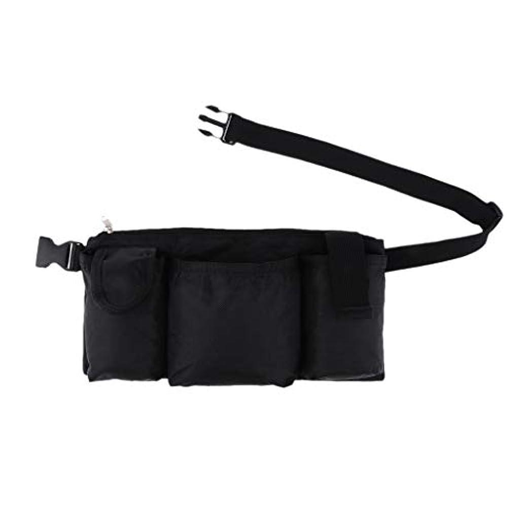 発表ファン担保FLAMEER 作業員 サロン 美容師 ツールバッグ ウエストバッグ 収納ポッチ 4つのポケット 防水 黒