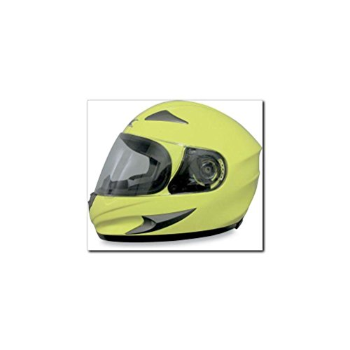 AFX FX-90 Solid Helmet , Size: XL, Distinct Name: Hi-Viz Yellow, Primary Color: Yellow, Gender: Mens/Unisex, Helmet Type: Full-face Helmets, Helmet Category: Street 0101-5746