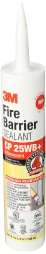 - 3M CP-25WB+/10.1 10.1 Oz. Fire Barrier Sealant (Pack of 1)