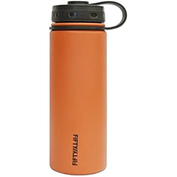 Fifty//Fifty 40 oz Vacuum Insulated Water Bottle with 3 Fing Orange