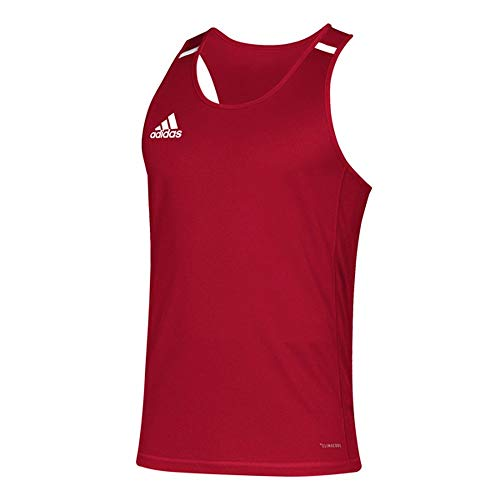 (adidas Team 19 Singlet - Men's Track and Field M Power Red/White )