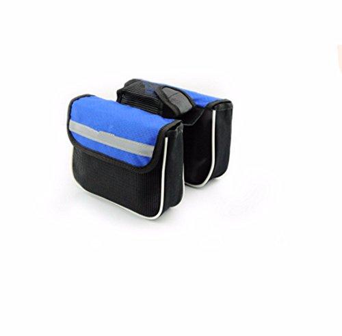 Fahrrad Taschen Mountain Road Bike Racing Rohr auf das Paket vor Satteltasche Träger Fahrrad Zubehör, Blau 14 * 11 * 4,5 cm