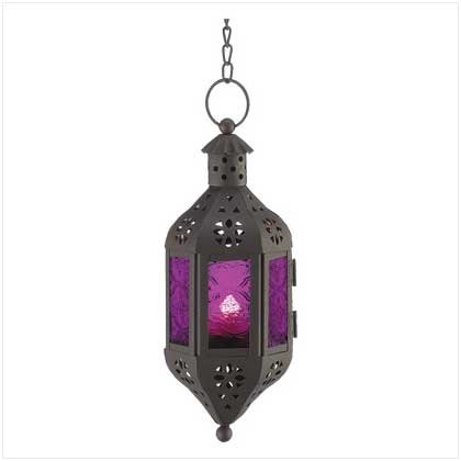 Gifts & Decor Mystical Decorative Candle Lantern Light Metal Glass]()