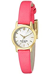 kate spade new york Women's 1YRU0830 Tiny Metro Gold-Tone Watch with Pink Leather Band