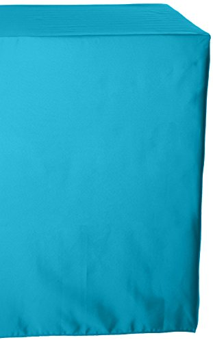 LinenTablecloth 60 x 102-Inch Rectangular Polyester Tablecloth Turquoise