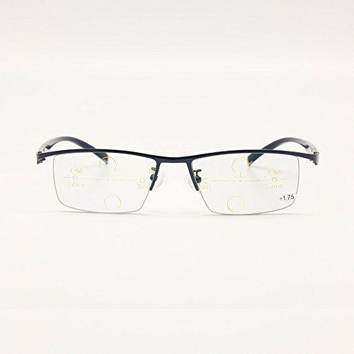 300 Perspectiva línea sol Negro Multi Gafas a de Transición de Fotocrómica Progresiva de Gradual 0 Focus lectura Sin incrementos por 25 Gafas Rx PTwc6B8q