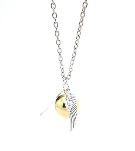 Tanboo Vintage Harry Potter Golden Snitch Necklace,with Tanboo Card and Annagle Necklace