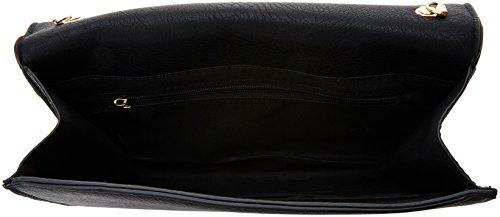 SwankySwans - Lisa Smart Faux Leather, Pochette da giorno Donna Nero (Black)