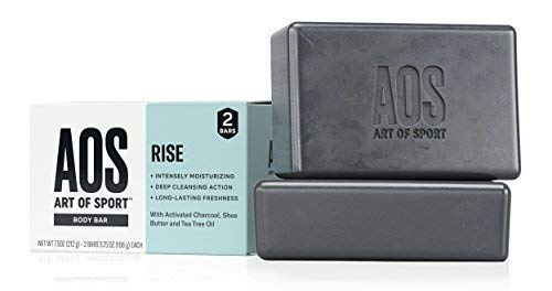 Art of Sport Body Bar Soap (2-Pack), Rise Scent, with Activated Charcoal, Tea Tree Oil, and Shea Butter, 3.75 oz Black Friday Deals 2019