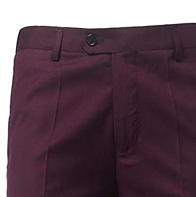 AK Beauty Mens Casual Flat-Front Pants Business Pant Slim Fit Stretch Trousers