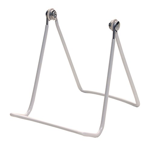 Gibson Holders Two Wire Display Stand for Art, Plates, Hats, and More, Set of 2, White (2A-W)