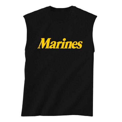 Marines Sleeveless (MARINES Sleeveless T-Shirt in black - Large)