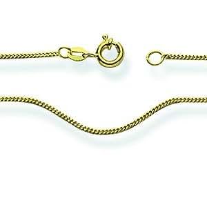 Tanque-collar 750/18 K oro 45 cm, colgante desencadenadores: 3.6 mm, anchura: 1 mm, cadena engarzada: tanques, longitud: 45 cm, grosor: 0.5 mm, cierre: anillo reforzado federativa