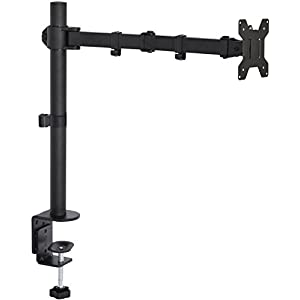 "VIVO Single LCD Monitor Desk Mount Stand Fully Adjustable/Tilt/Articulating for 1 Screen up to 27"" (STAND-V001)"