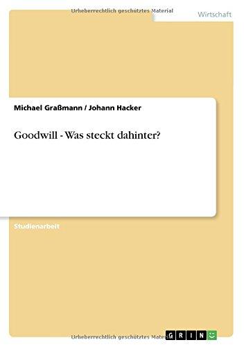 Goodwill - Was steckt dahinter?