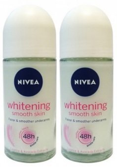 Nivea 50ml Whitening Smooth Skin Roll-on – Pack of 2