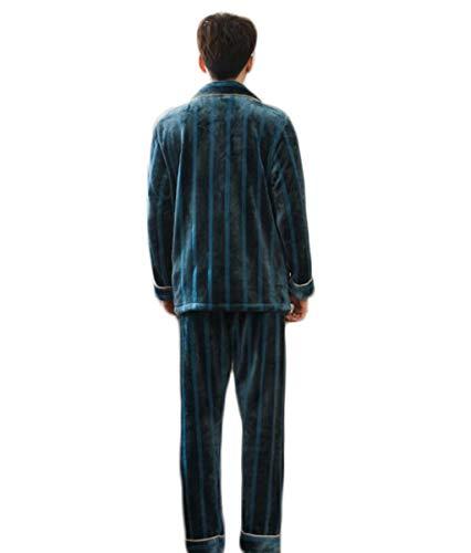 Casa Pelo Caldo Uomo Xl Servizio Pfsyr Per Di colore Velluto Set Comodo Blu Blu Dimensioni D'inverno Indossare Pigiama Da In Corallo La nfwIIRzv