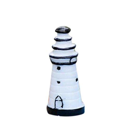 Mini Lighthouse Gardening Ornaments Resin Crafts Figurine Ho