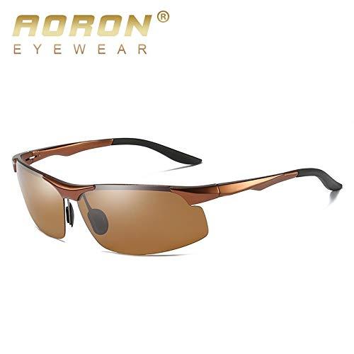 Mjia Aluminio Deportivas de C polarizadas antideslumbramiento Gafas Hombre HD sunglasses Gafas de B Gafas Aluminio de con magnesio Sol de Vision 1qz1BrA