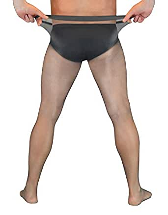 d74c72455 Image Unavailable. Image not available for. Color  Atlantis - Men s  Seamless Nylons with closed sheath - Full ...