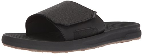 Quiksilver Men's Travel Oasis Slide Sandal, Black/Black/Brown, 8(41) M US by Quiksilver (Image #1)