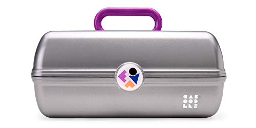 Caboodles Twilight Disco – On-The-go Girl Costmetic Organizer Make-up & Accessory Carry Case, Silver Shimmer
