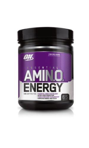 Optimum Nutrition Amino Energy 65 portions de raisin Concord,, 585 Grammes