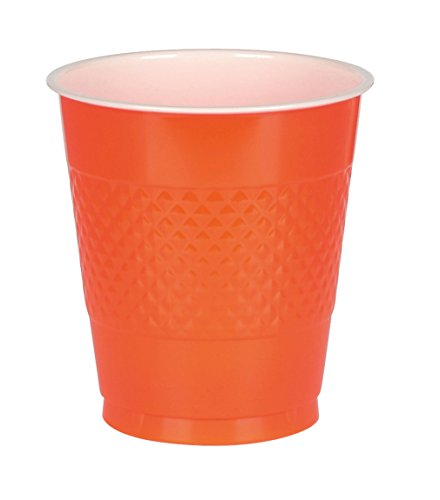 Big Party Pack Orange Peel Plastic Cups | 16 oz. | Pack of 50 | Party Supply
