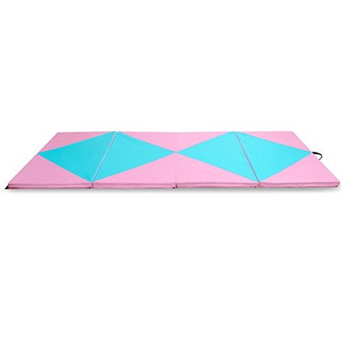 COSTWAY 4'X10'X2 Gymnastics Mat Folding Portable Exercise Aerobics Fitness Gym Exercise by COSTWAY (Image #11)
