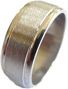خاتم معدن للرجال، فضي - 1164 - 10 - 2