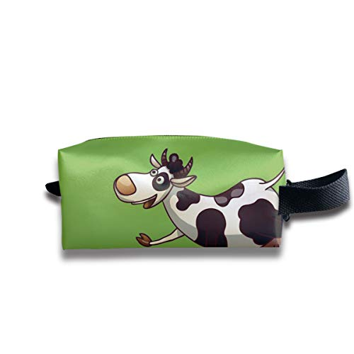 Small Toiletry Bag Cows Funny Cartoon,Pencil Case,Travel Essentials Bag,Dopp Kit Bag For Men And Women With Handle]()