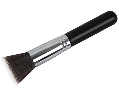 Flat Top Brush (niceeshop(TM) Professional Wooden Handle Nylon Hairs Foundation Flat Top Makeup Cosmetic Brushes)