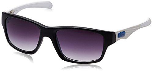 Rockford Rectangular Sunglasses (Matte Black and White) (RF-073-C7)