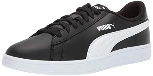 PUMA Men's Smash v2 Sneaker, Blackwhite, 11 M US