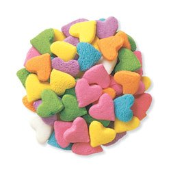 - Valentine Pastel Heart Shapes Edible Sugar Quins for Cakes and Cupcakes 6 oz