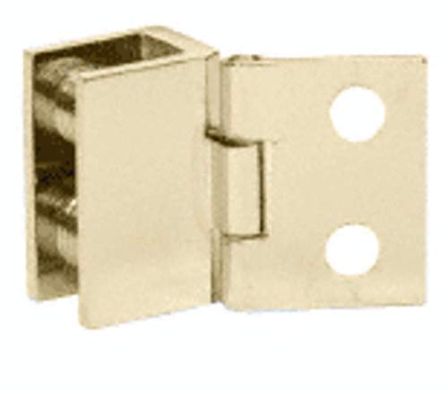 CRL Brass Finish 1in Wall Mount Set Screw Hinge - Package