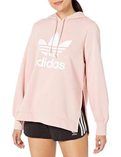 adidas Originals Women's Hooded Sweatshirt, pink spirit, Small
