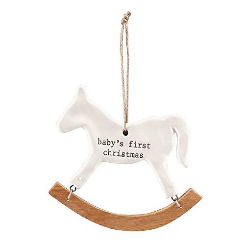 Mudd Pie Baby's First Christmas Rocking Horse Ceramic ()