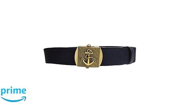 c4997d481c4 Amazon.com  Gucci Men s Blue Fabric Brass Anchor Buckle Belt 375191   Clothing